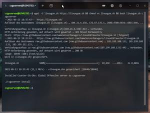 Installieren des linuxgsm Scripts
