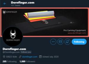 Dornfinger Twitter